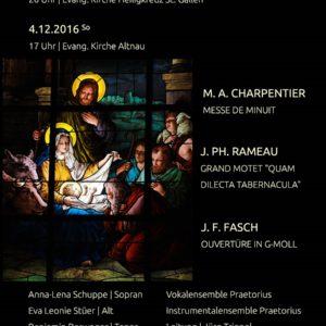 Konzertflyer Französische Barockmusik
