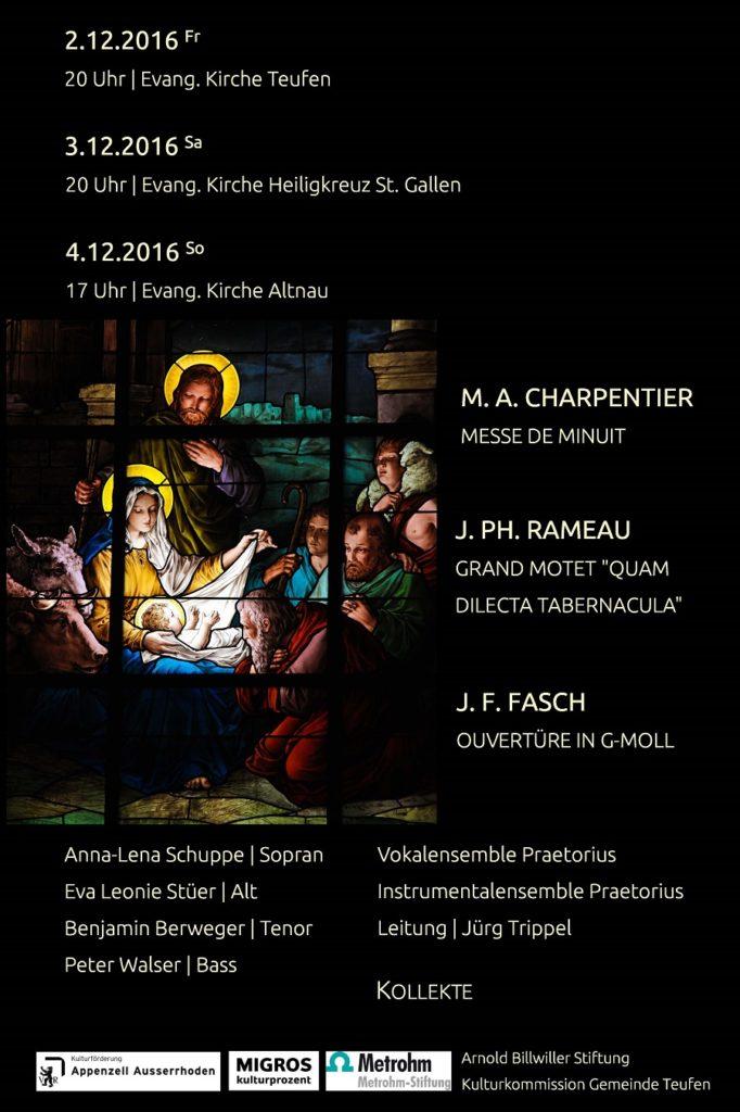 Konzertflyer Noël Baroque