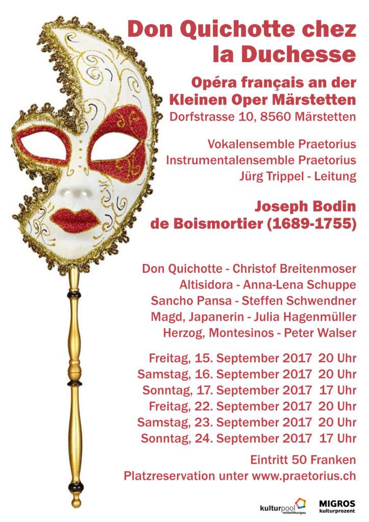 Einladung Oper Don Quichotte chez la Duchesse